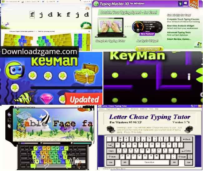 Download free typing games, all types of typing games, typing master