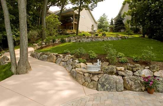Love the rock walled entry