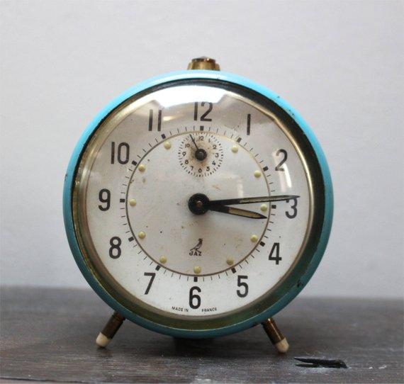 French Vintage Jaz Alarm Clock Vintage Decor Alarm Clock