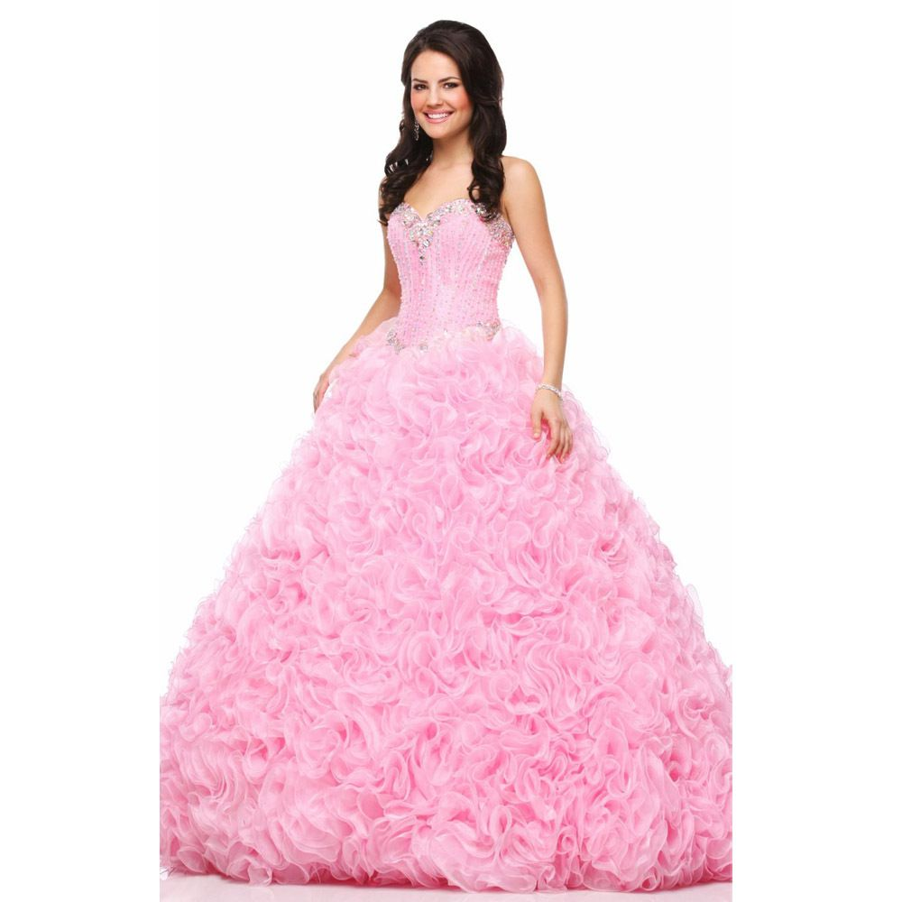 Click to Buy << Hot Sale Pink Dazzling Quinceanera Dress 2017 ...