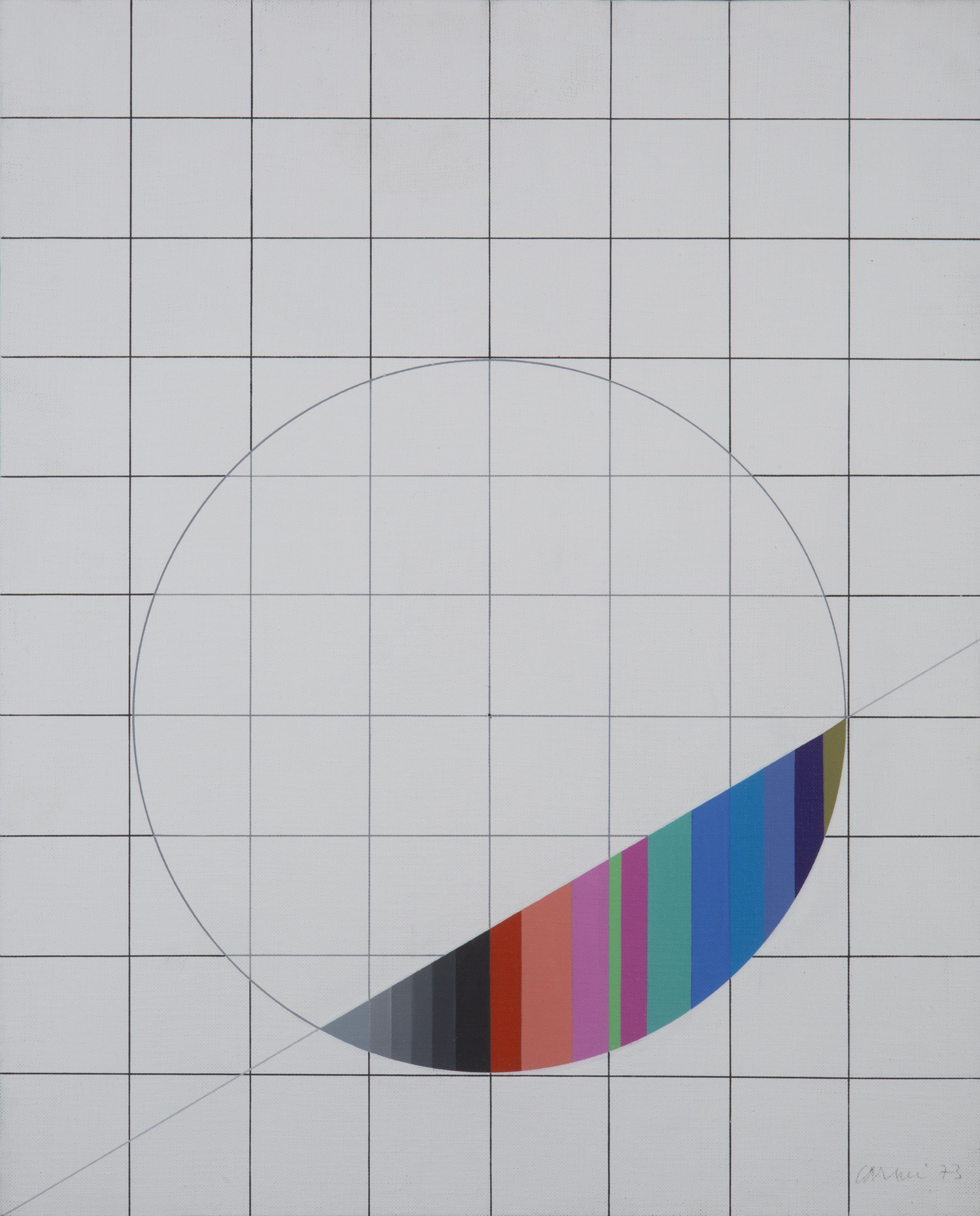 """Eugenio Carmi """"Studio"""", 1973 Geometric art, Carmi"""