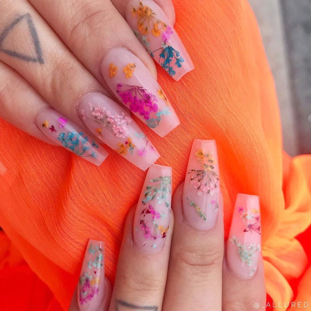 Have you tried the dry flower or milk bath nail trend