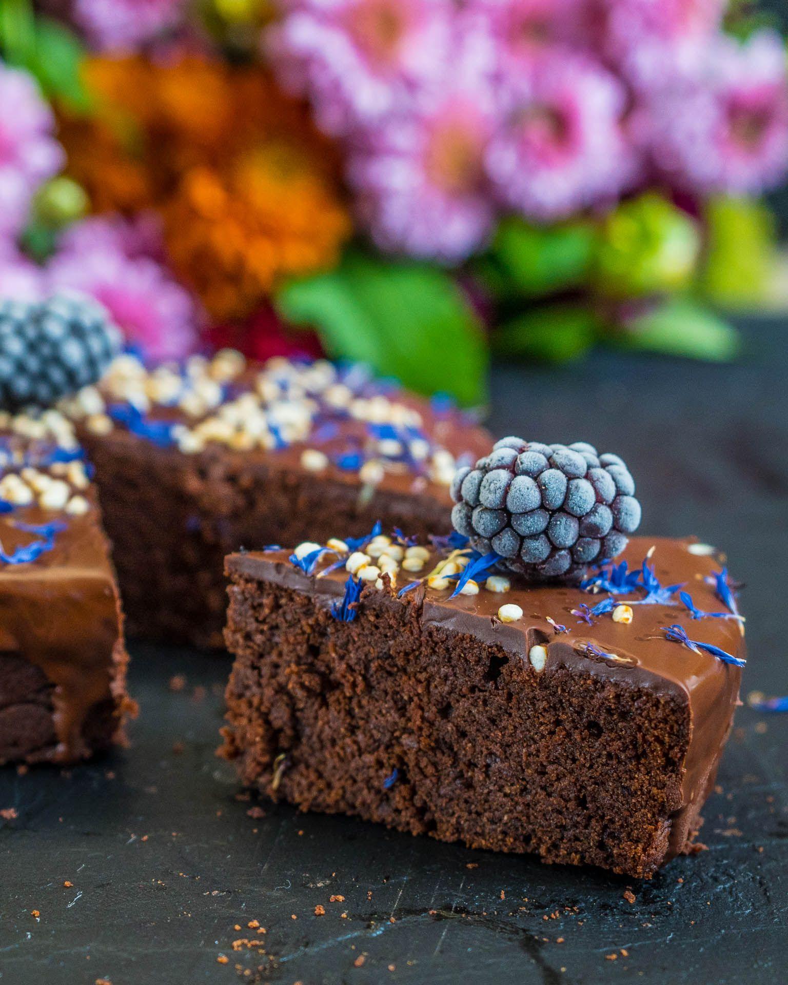 Gesunder Schokokuchen vegan - ohne Zucker & glutenfrei - Mrs Flury