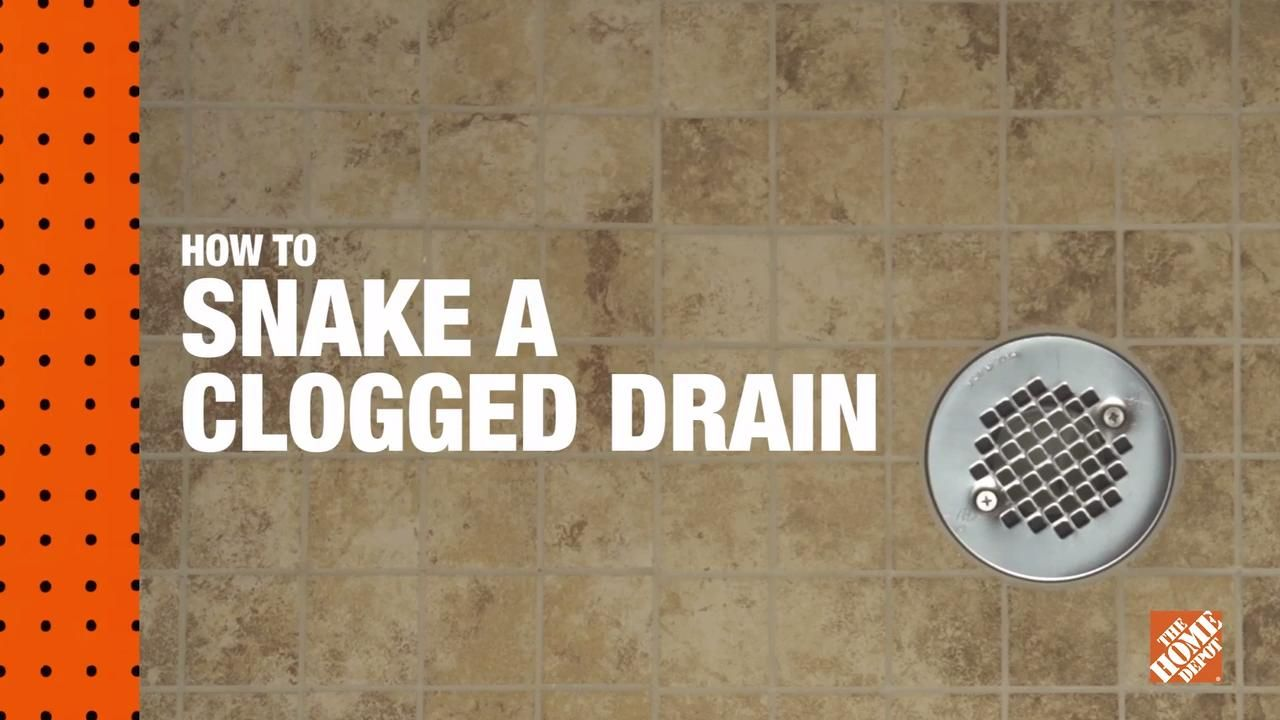 Here's the basics of how to unclog a drain with a snake or