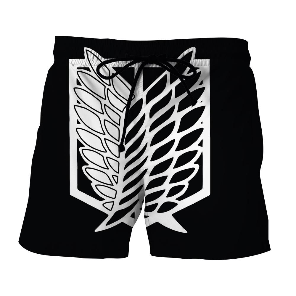 Attack on titan survey corps black and white symbol short