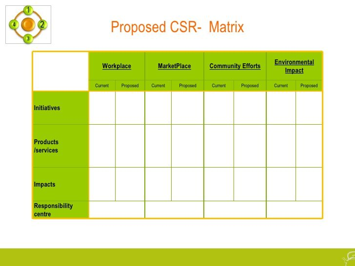 Proposed Csr Matrix Workplace Marketplace Community Efforts