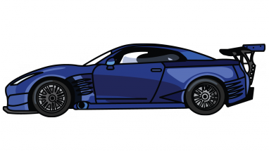 Nissan Gtr Fast And Furious 7 Step By Step Drawing Tutorial Step