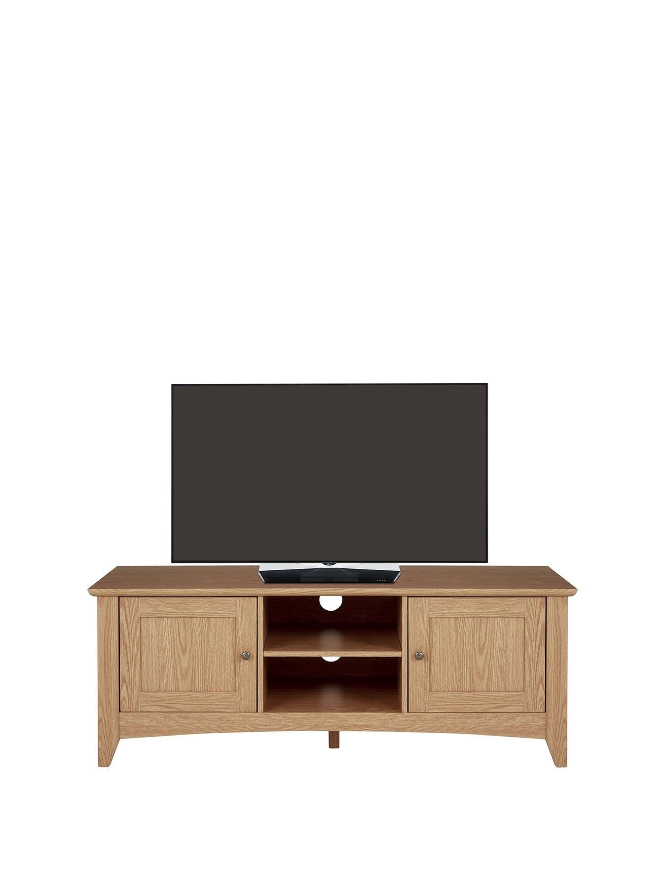 Glaze Tv Meubel.Kari Tv Unit Fits Up To 60 Inch Tv In Oak 60 Inch Tvs Tv Unit