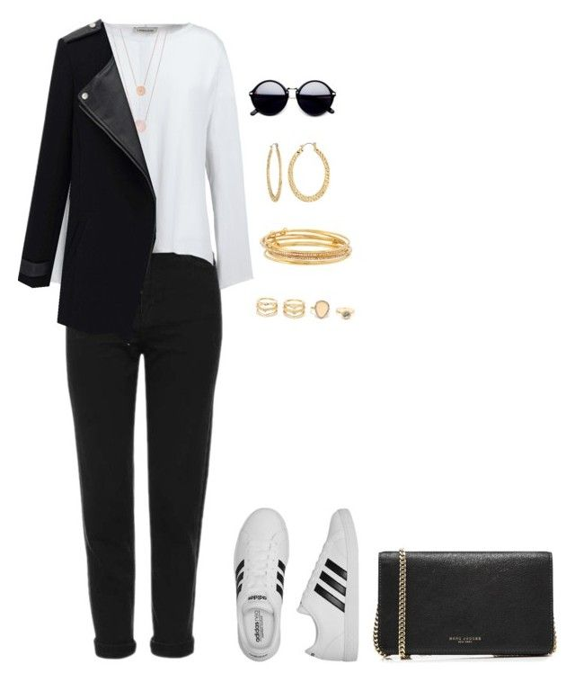 """Sin título #1472"" by danareyesguido on Polyvore featuring moda, Topshop, Canvas by Lands' End, adidas, Michael Kors, Kate Spade, LULUS, Fragments y Marc Jacobs"