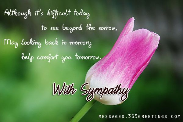 Sympathy Messages And Wishes Messages - condolence messages