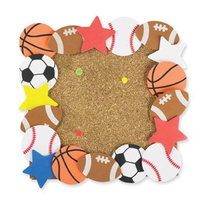 sport foam shape border bulletin board create a fun sport themed