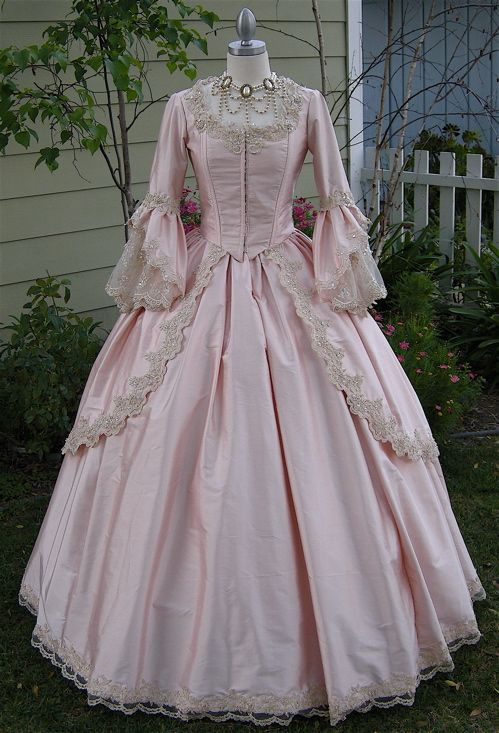 Gorgeous silk fairy sparkle marie antoinette gown custom for Period style wedding dresses