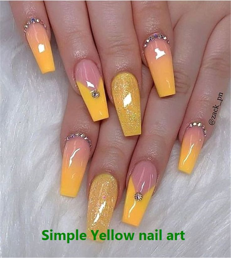 Pin By Sydney Terhune On Nails In 2020 Yellow Nails Design