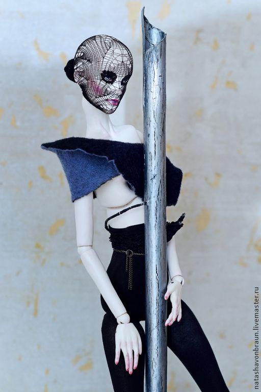 Купить Анна Каренина - черный, бжд, bjd, шарнирная кукла, кукла на шарнирах, кукла