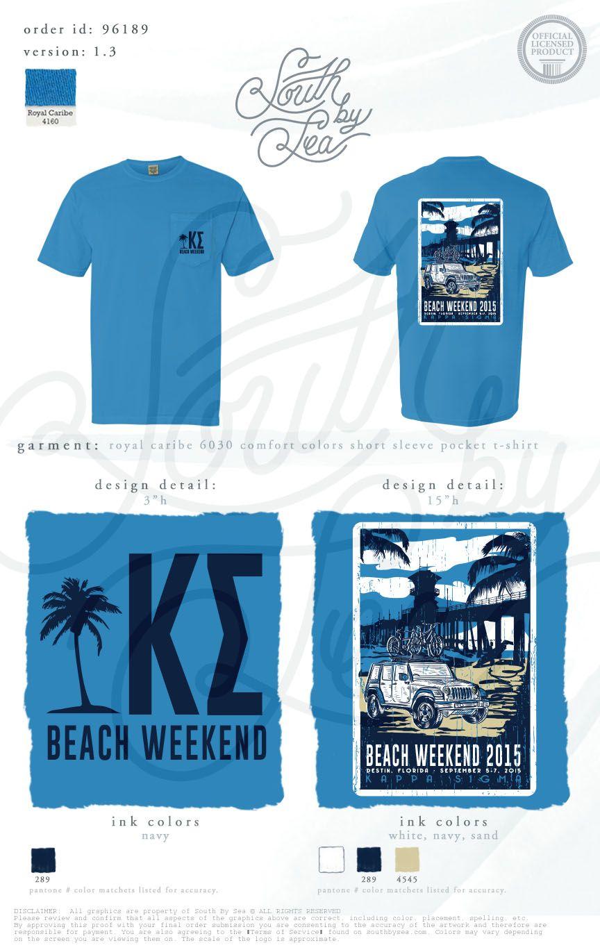 Kappa Sigma Kappa Sig K Sig Beach Weekend Tropical Tee
