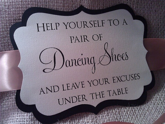 Ornate Wedding Sign - For Your Flip Flop Basket - Dancing Shoes ...