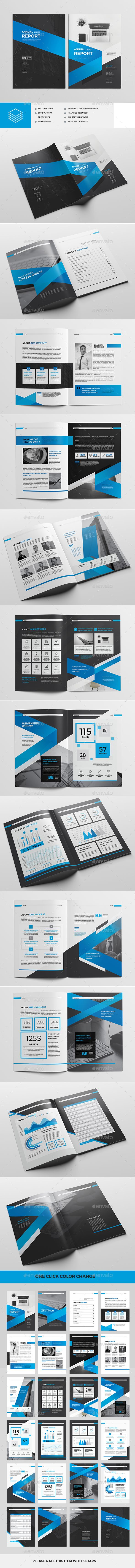 Annual Report Brochure Template InDesign INDD | Brochure Templates ...