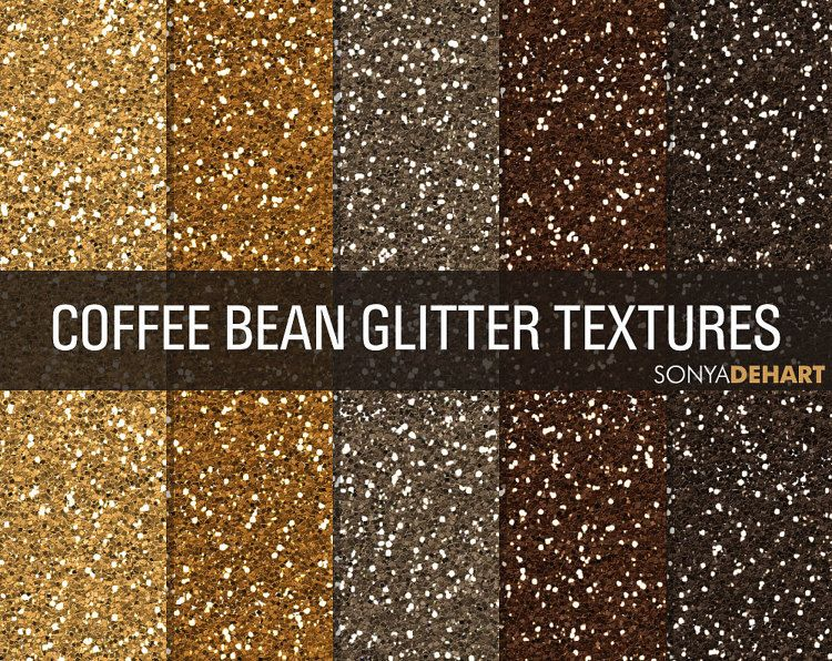 80% OFF SALE Brown Glitter Digital Papers by SonyaDeHartDesign