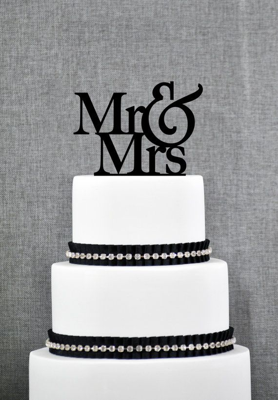Custom Mr And Mrs Cake Topper Wedding Cake Topper Engaged Cake