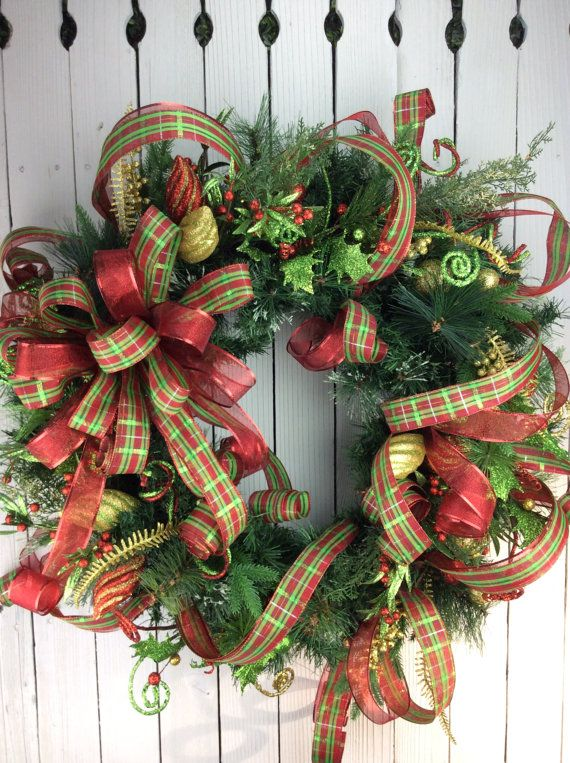 christmas wreaths christmas wreathtraditional christmas by keleas - Large Christmas Wreath