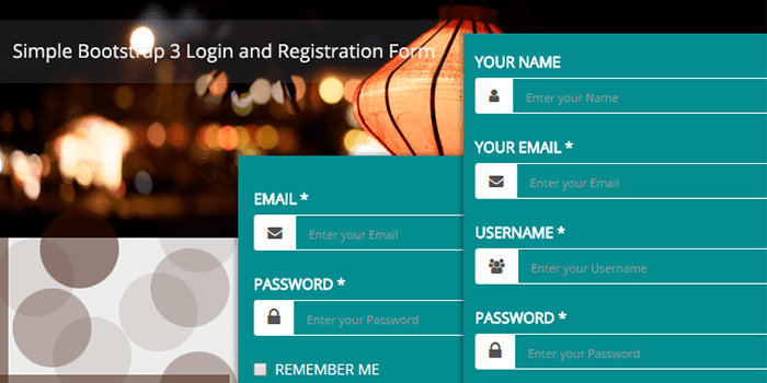 Bootstrite Bootstrap 3 Login And Registration Form Bootstrap