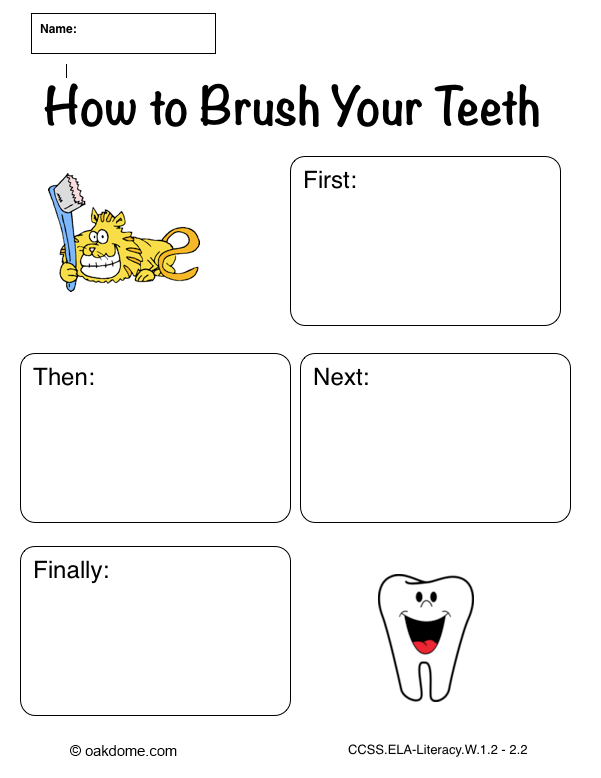 Ipad Graphic Organizer  How To Brush Your Teeth  Plain Common