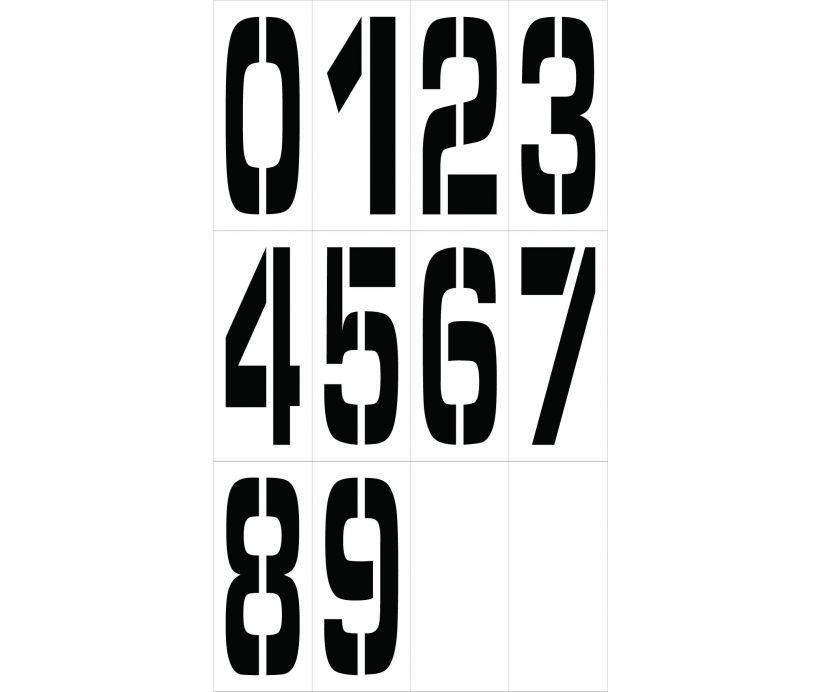 Pmn24 National Marker Number Stencils ステンシル 数字