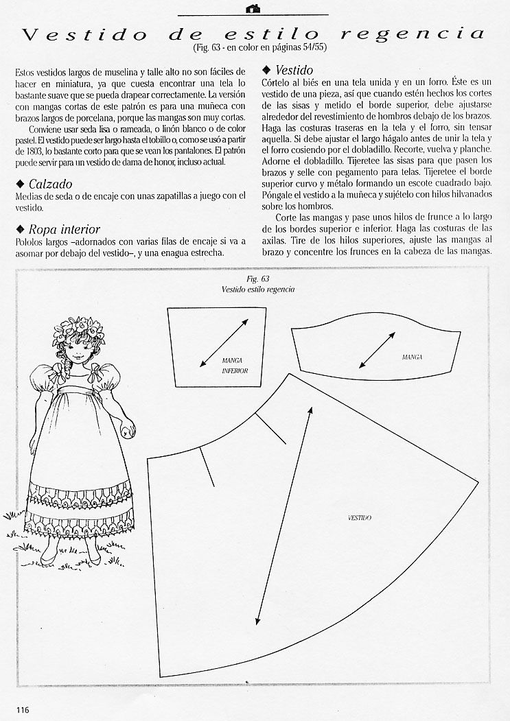 Regency gown | Doll Costuming and Inspiration | Pinterest | Vestidos ...