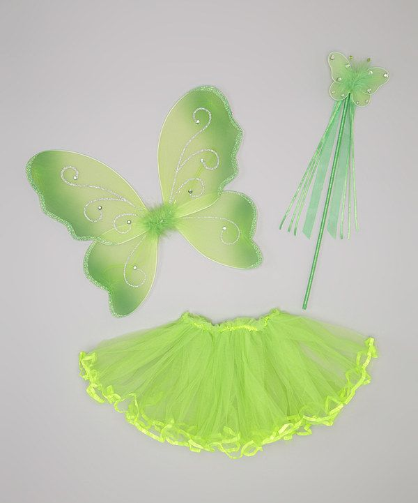 Take a look at this Neon Green Fairy Dress-Up Set - Infant Toddler  sc 1 st  Pinterest : neon fairy costume  - Germanpascual.Com