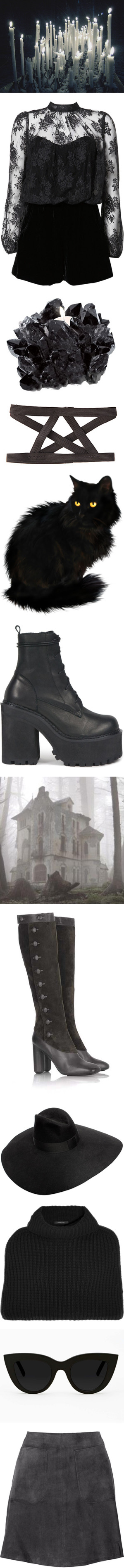 """""""Does this black match?"""" by meta-morphosis ❤ liked on Polyvore"""