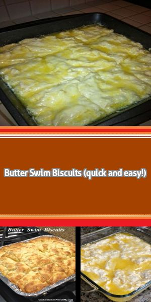 Butter Swim Biscuits Butter. Butter. Butter. Biscuits swimming in butter. Doesn't get any better, right?! If you are Paula Deen Jr., you will be in love with these biscuits! I think my heart and arteries cried a … #butterswimbiscuits