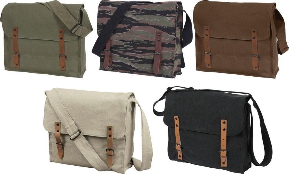 Vintage Military Medic Canvas Shoulder Bag Army NATO Stone Washed ... c47bc67986d