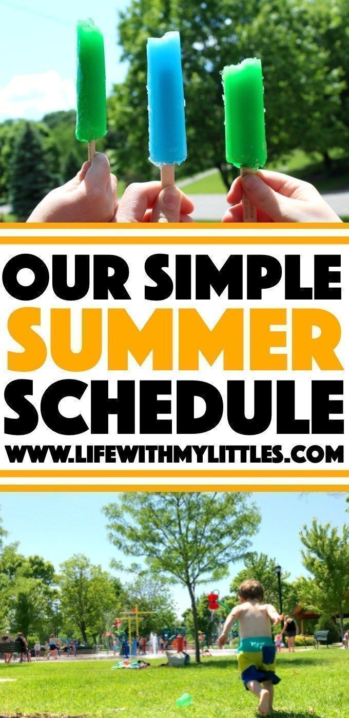 Our Simple Summer Schedule #summerschedule This simple summer schedule is a great way to have a more relaxed, flexible summer vacation, but still enjoy scheduled activities! Nine easy activity ideas and how to implement them to make the most of your summer! Great for toddlers, preschoolers, or elementary-aged kids! #summer #summerschedule #summeractivities #kids #summerschedule Our Simple Summer Schedule #summerschedule This simple summer schedule is a great way to have a more relaxed, flexible #summerschedule
