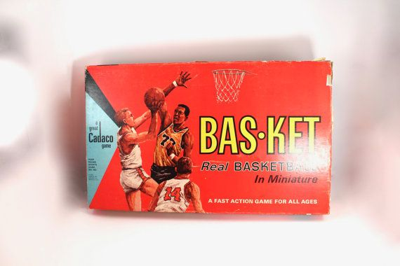 Fun 1966 Basketball Game By Cadaco Basket Or Bas Ket Involves Launching A Ping Pong Ball Across A Cardboard C Vintage Board Games Electronics Games Book Cover