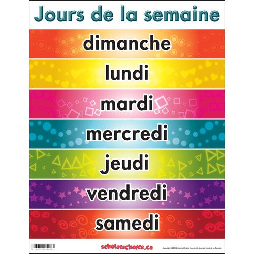 Days of the week in French | Madeline's Paris | Pinterest ...