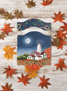 Autumn Splendor by Debby Forshey Choma. Exclusive, Free Downloadable pattern and wood surface available at www.ArtistsClub.com