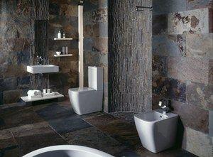 Tuileaux d\'ardoise, Porcelanosa - Déco : Salles de bain | La ...