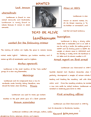 Element Wanted Posters Teaching Learning Pinterest