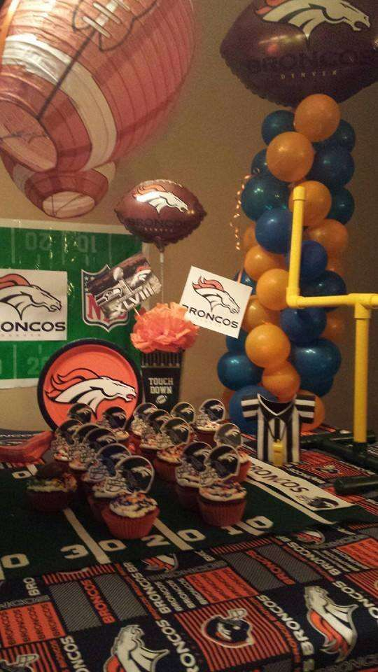 Football Seattle Seahawks Denver Broncos Birthday Party Ideas