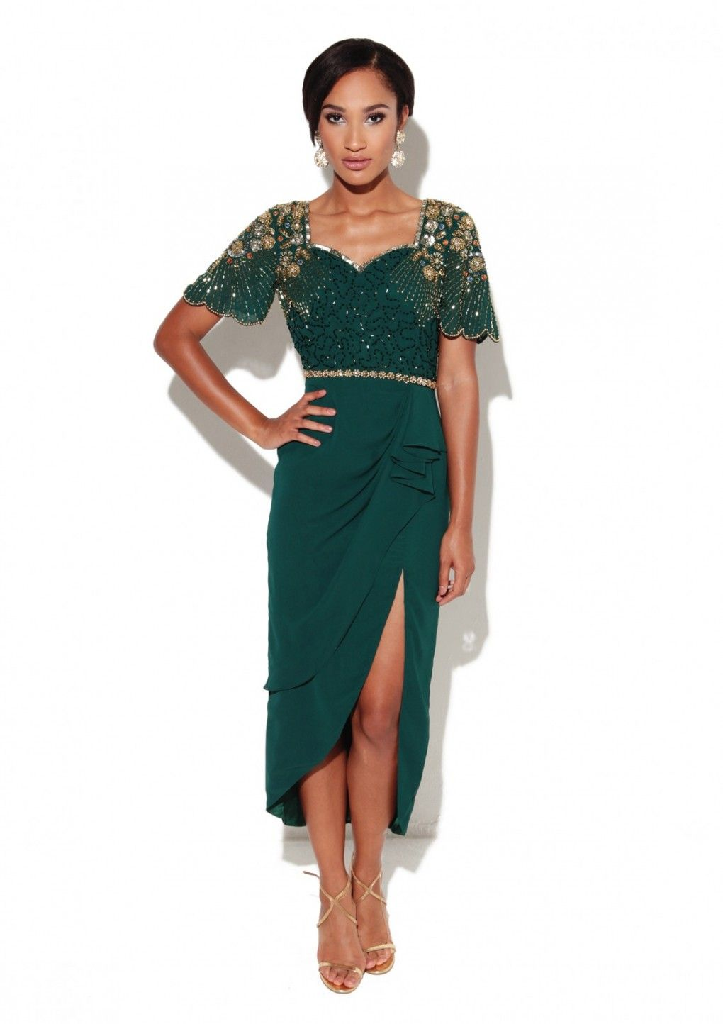 4eb325a00845 Laila Dress Green - Virgos Lounge | gowns for special occasions