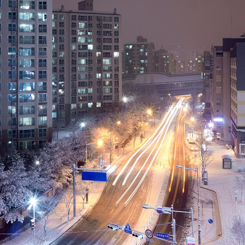 #seoul #southkorea #snow #winter #junsong #night