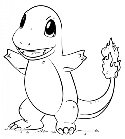 charmander pokemon go coloring pages printable and coloring book to print for free find more coloring pages online for kids and adults of charmander - Pokemon Go Coloring Pages