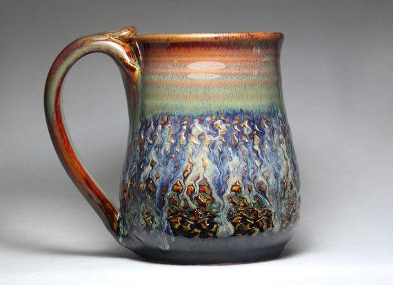 18oz handmade pottery mug by DrostePottery on Etsy