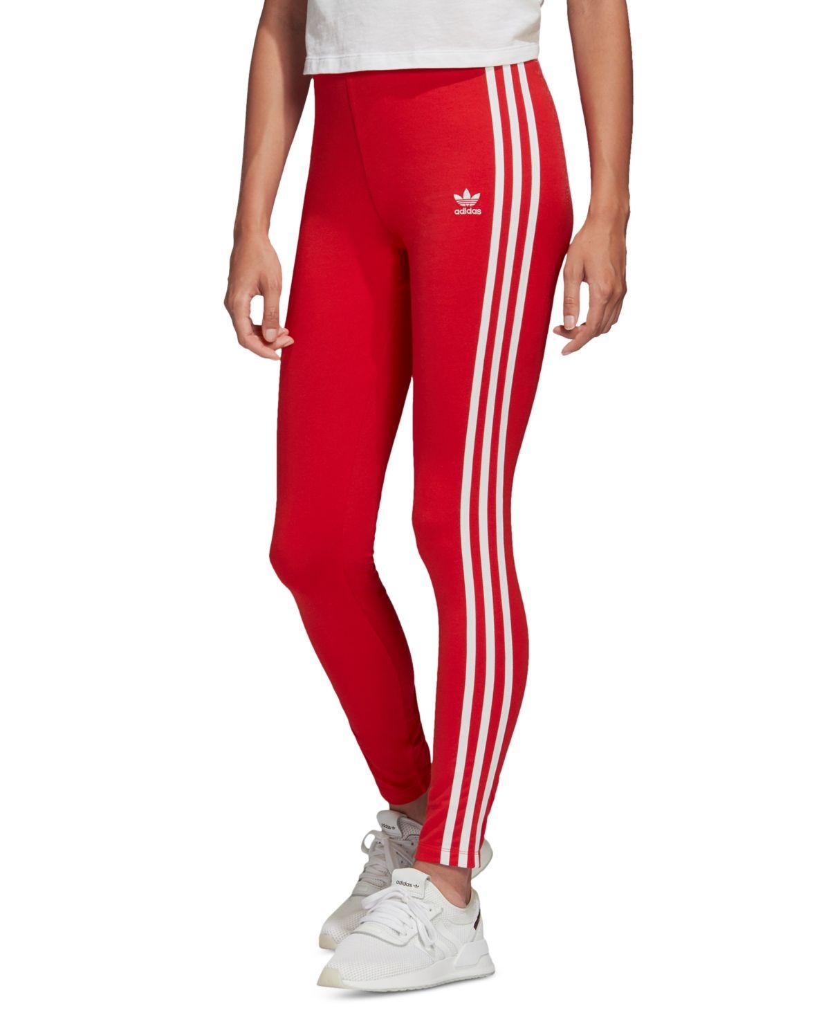 adidas Women's adicolor 3-Stripe Leggings & Reviews - Women - Macy's #stripedleggings