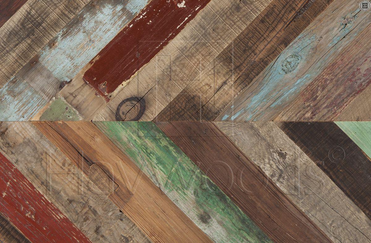 Painted Pine Genuine Reclaimed Engineered Wood Flooring