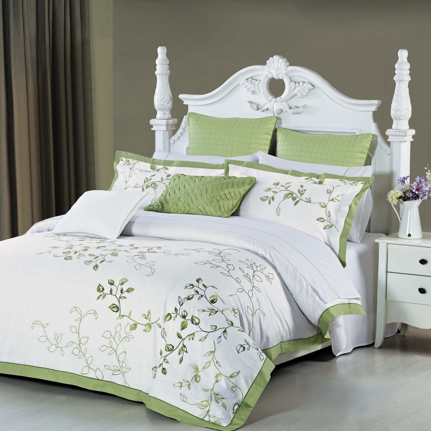 Green And White Duvet Cover Sets Sweetgalas