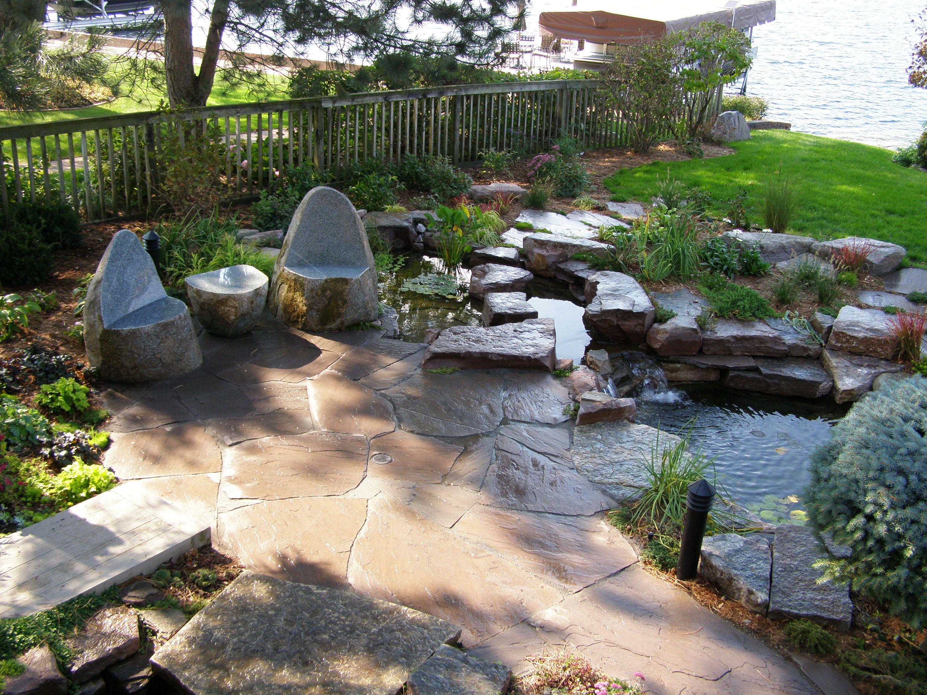 Backyard Landscaping With Natural Stone Patios Walkways Flagstone Patio Design  Idea On Yardbackyard