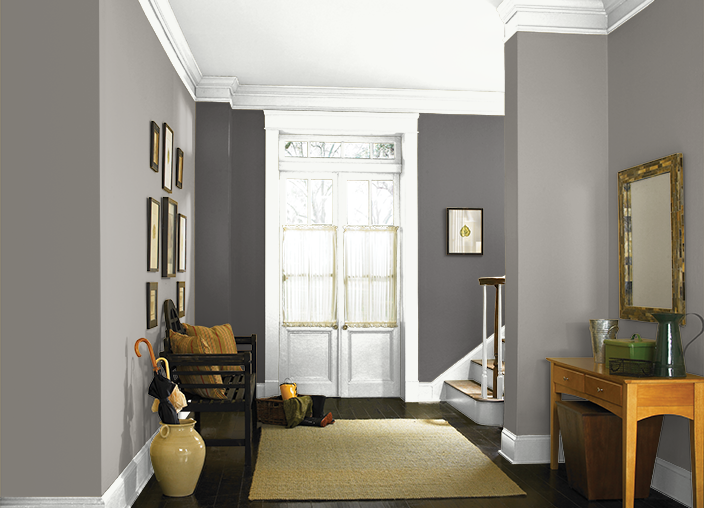 This is the project I created on Behr com  I used these colors     This is the project I created on Behr com  I used these colors  FASHION GRAY PPU18 15  INTELLECTUAL PPU18 19  ULTRA  PURE WHITE PPU18 6