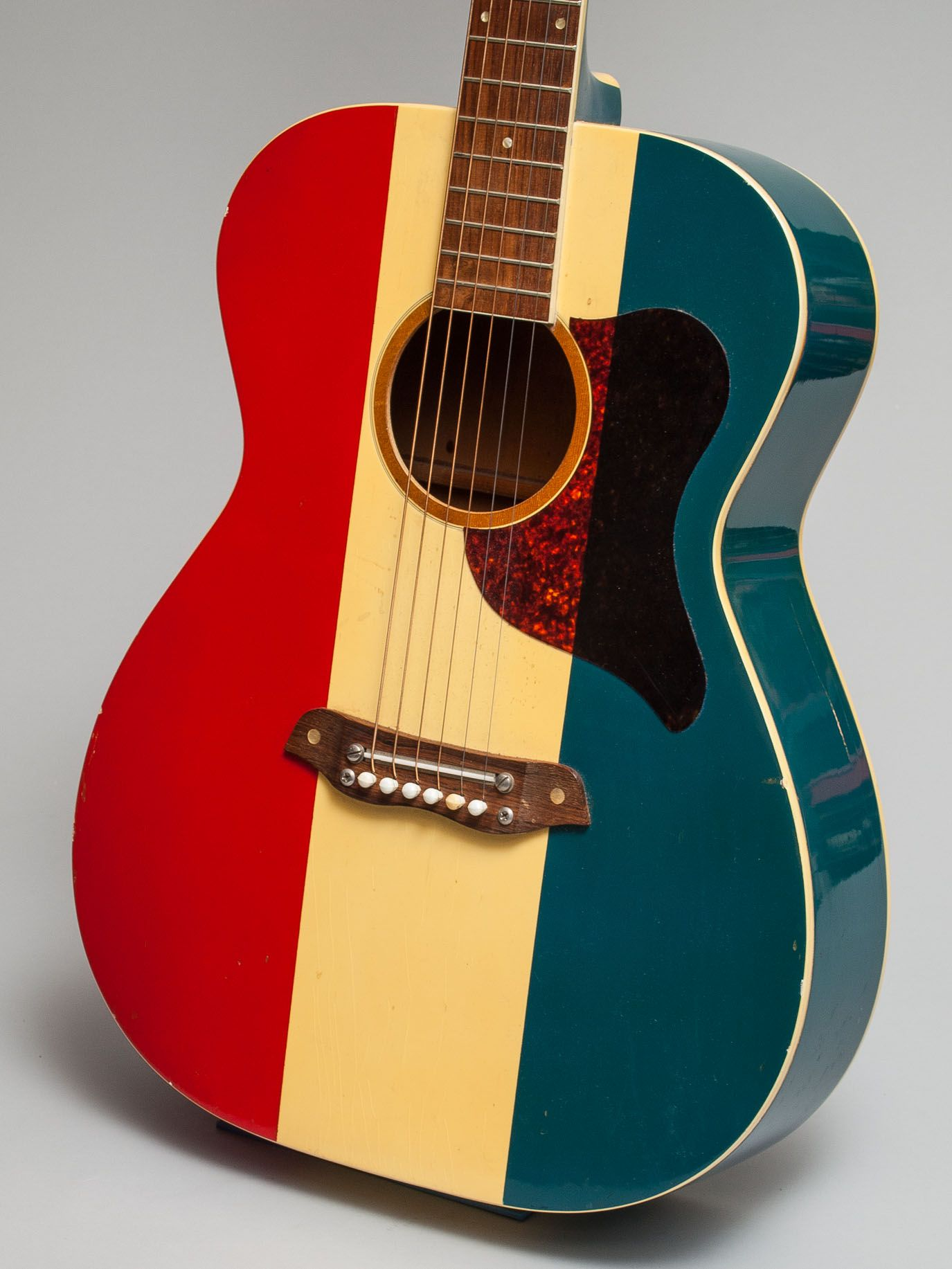 It Doesnt Get More Patriotic Than A Red White And Blue Guitar With Buck Owens Name On The Headstock