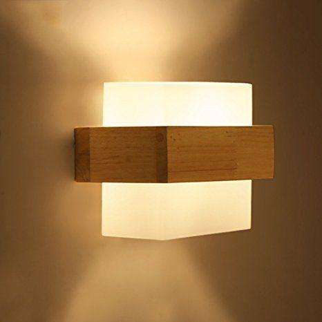 WALL LIGHT The Nordic creative wooden wall lights modern minimalist ...